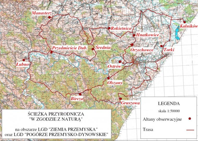 mapa sciezka
